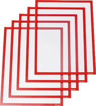 Ultradex Infotaschen/889005 A4 hoch,quer magnetisch Kunststoff 450g rot 5 Stk