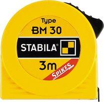 Stabila Taschenbandmaß BM 30 (W)/ 16450, L3 m x B12,5 mm