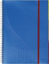 AVERY Zweckform Notizbuch Spiral PP /7037, blau, kariert , DINA4 hoch, 90Blatt