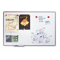 Whiteboard SILVERLINE - Umrandung silbergrau - BxH 600 x 400 mm