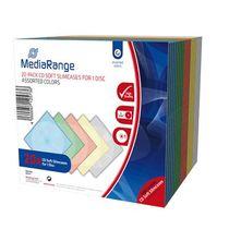 MediaRange CD-Hüllen/BOX37 H129xT125xB5mm farbig Inh. 20 Stk