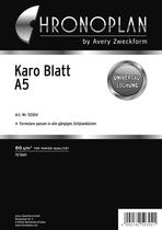 Chronoplan Formular Karo-Blatt A5