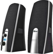 Trust Speaker Set MiLa 2.0/16697 schwarz/silber Inhalt 2 Stück