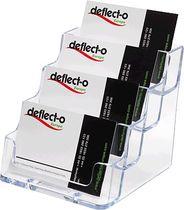 deflecto® Visitenkartenhalter/DE70841, glasklar,99x35x45mm, Inh. bis 4x60 Karten