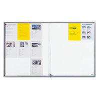 office akktiv Schaukasten mit Schiebetüren - Außen-BxHxT 1566 x 947 x 50 mm - Metallrückwand