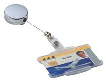 DURABLE Ausweiskartenhalter Jojo Chrome