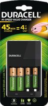 DURACELL® Ladegerät Charger CEF14/DUR118577 Inh. 2x AA und 2x AAA Stk schwarz