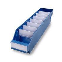 STEMO Regalkasten aus hochschlagfestem Polypropylen - blau - LxBxH 500 x 90 x 95 mm, VE 40 Stk