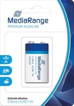 MediaRange Batterie Premium Alkaline 9V/E-Block 6LR61/MRBAT107 wß/bl
