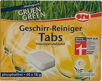 ORO® Geschirrspültabs/ 2552 , Tabs Green 1 Inh. 40 Tabs