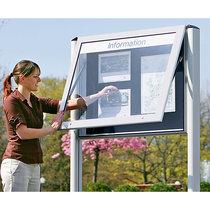 Schaar-Design Schaukasten für Innen- und Außenbereich - Querformat - für DIN A0, Türöffnung 90° nach oben