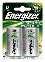 Energizer® Akkus PowerPlus/ E300322000, 2500 mAh Mono D HR20 Inh. 2