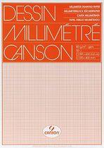Canson Millimeterpapier Blöcke, 67503, orange, 80 g/qm, DIN A3, Inh.50Blatt