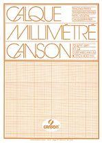 Canson Transp.-Millimeterblöcke, 17136, Block, 70-75 g/qm, DIN A3, Inh.50Blatt