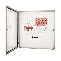 magnetoplan® Schaukasten SP - weiß - Kapazität 9 x DIN A4