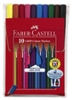 Faber-Castell 10er Etui Fasermaler GRIP COLOUR MARKER