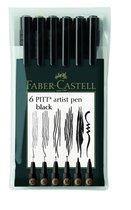 Faber-Castell 6er Etui Tuschestift PITT® ARTIST PEN