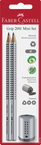 Faber-Castell Bleistiftset GRIP 2001 + Einfachspitzer