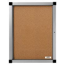QUIPO Schaukasten, Flügeltür - 4 (2 x 2) DIN-A4-Blätter - Naturkork-Rückwand