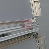 Franken Metallfedern für Kundenstopper BSA - 14 Stück, silber, für den Klapprahmen
