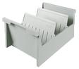 Karteitrog, Karteikartenständer DIN A5 quer, für 1000-1500 Karten, grau