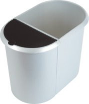 helit Papierkorb Duo-System Silver