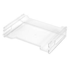 Herlitz Ablagekorb Briefkorb A4-C4 quer hochglanz glasklar transparent