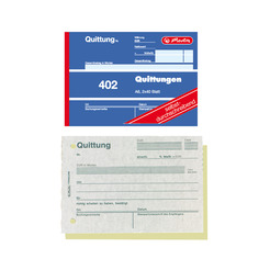 Herlitz Buchhaltungs-, Kassenformular Quittungsblock 402