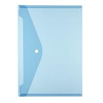 Herlitz Dokumententasche A4 transparent blau glasklar