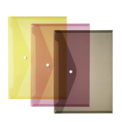 Herlitz Dokumententasche A4 transparent farbig sortiert glasklar 3er