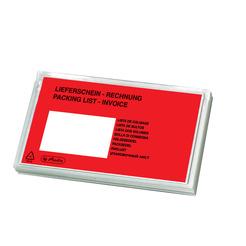 Herlitz Dokumententasche (Kunststoff, Packmittel) Lieferscheintasche für DIN lang