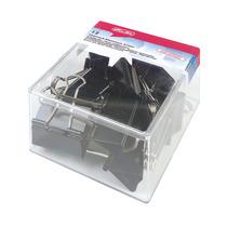 Herlitz Foldbackklammer Briefklemmer (Büro) 41mm schwarz 12er Transparentbox