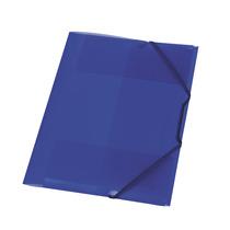 Herlitz Gummizugmappe PP A4 transluzent blau