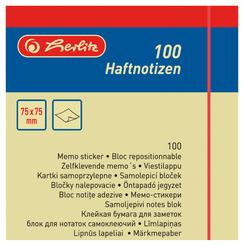 Herlitz Haftnotizen Haftnotizblock 75x75 100Blatt hellgelb
