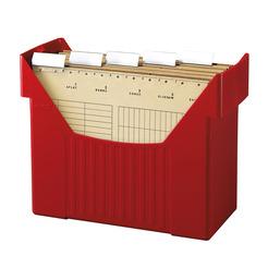 Herlitz Hängeregistraturbox Hängebox A4 rot mit 5 Hängemappen natron