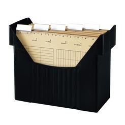 Herlitz Hängeregistraturbox Hängebox A4 schwarz mit 5 Hängemappen natron