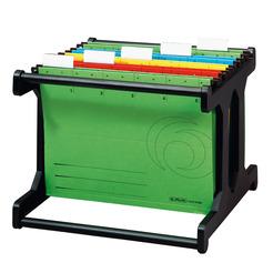 Herlitz Hängeregistraturgestell Hängebox A4 schwarz mit 4 Hängemappen farbig