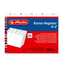 Herlitz Karteiregister A5 PP 25-teilig A-Z weiß