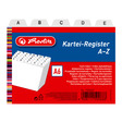 Herlitz Karteiregister A6 PP 25-teilig A-Z weiß