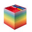 Herlitz Notizklotz 9x9x8,5cm 800Blatt rainbow geleimt