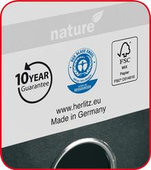 Herlitz Ordner maX.file nature A4 8cm schwarz