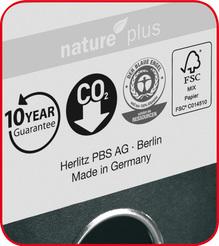 Herlitz Ordner maX.file nature plus A4 5cm bordeaux