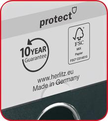 Herlitz Ordner maX.file protect A4 8cm rot