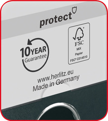 Herlitz Ordner maX.file protect A4 8cm schwarz