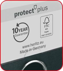 Herlitz Ordner maX.file protect plus A4 8cm grau