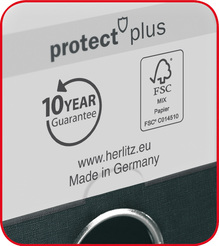 Herlitz Ordner maX.file protect plus A4 8cm mint