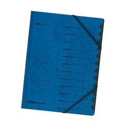 Herlitz Ordnungsmappe A4 Colorspan 1-12 blau