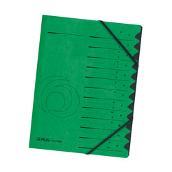 Herlitz Ordnungsmappe A4 Colorspan 1-12 grün