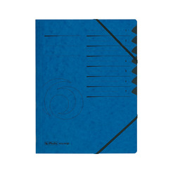 Herlitz Ordnungsmappe A4 Colorspan 1-7 blau