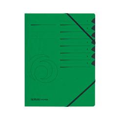 Herlitz Ordnungsmappe A4 Colorspan 1-7 grün